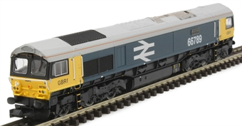 "GM2210101 Class 66/7 66789 ""British Rail 1948-1997"" in BR large logo blue with GBRf branding"