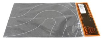 GM371 Tarmac road curves 80mm wide (x2)