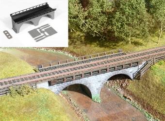 GM414 Single track stone bridge - plastic kit