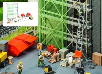 GM417 Construction building site accessories - plastic kit