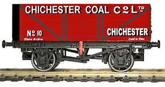 """GM4410206 7 plank open wagon """"Chichester Coal Company Ltd"""" - weathered"""