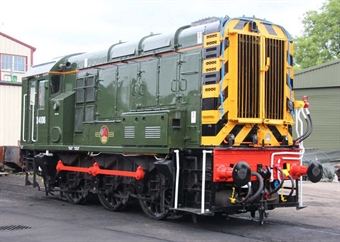 GM7210201 Class 09 shunter D4106 in BR green with wasp stripes - as preserved
