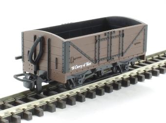 GR-201U 4-wheel open wagon in plain freight brown