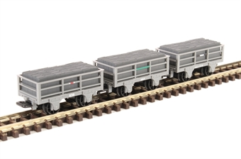 GR-320 Pack of three narrow-gauge slate wagons - unbraked