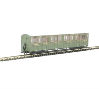 GR-401B L&B Bogie composite 6365 in Southern Railway green
