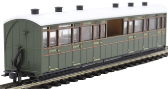 GR-451B Lynton and Barnstaple third class observation coach 2468 in Southern Railway olive green