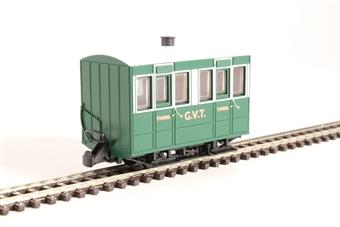 GR-500 4-wheel enclosed coach in Glyn Valley Tramway green £22