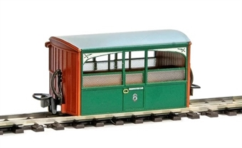 GR-560 4-wheel Ffestiniog 'Bug Box' observation coach - (Price is estimated - we will notify you if price rises and offer option to cancel)