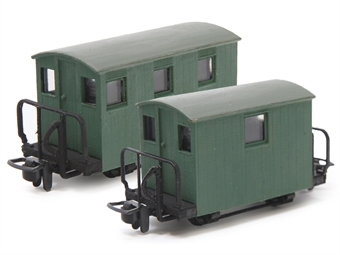 GR-580 Pair of 4-wheel Ffestiniog brake vans  - (Price is estimated - we will notify you if price rises and offer option to cancel)