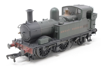 H1402-PO01 Class 58xx 0-4-2T 5814 in GWR Unlined green with Great Western lettering - Lightly weathered - Open box, imperfect box