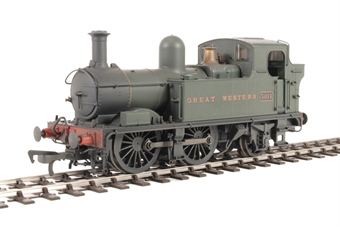 H1402 Class 58xx 0-4-2T 5814 in GWR Unlined green with Great Western lettering - Lightly weathered