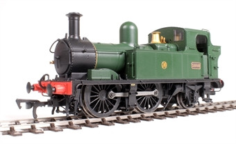H1404 Class 58xx 0-4-2T 5808 in GWR Unlined green with Shirtbutton logo
