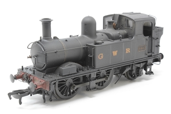 H1405-PO Class 48xx 0-4-2T 4807 in GWR Wartime black with G W R lettering - Lightly weathered - Pre-owned - DCC Sound-fitted