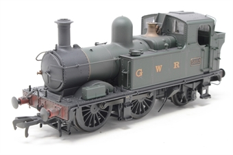 H1407-PO01 Class 58xx 0-4-2T 5802 in GWR Unlined green with G W R lettering - Lightly weathered - Open box