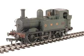 H1407 Class 58xx 0-4-2T 5802 in GWR Unlined green with G W R lettering - Lightly weathered