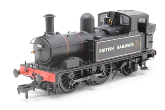 H1408-PO Class 58xx 0-4-2T 5816 in BR Lined black with BRITISH RAILWAYS (Gill Sans) - Open box, one number plate wonky with minor glue marks round it £72