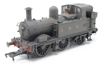 H1411-PO Class 58xx 0-4-2T 5801 in BR Unlined green with G W R lettering - Lightly weathered - Open box