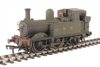 H1411 Class 58xx 0-4-2T 5801 in BR Unlined green with G W R lettering - Lightly weathered