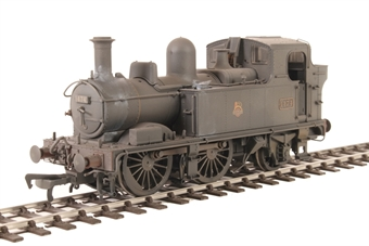 H1412 Class 14xx 0-4-2T 1474 in BR Unlined black with early emblem - Heavily weathered