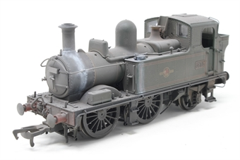H1415-PO02 Class 14xx 0-4-2T 1432 in BR Lined green with late crest - Heavily weathered - Open box, imperfect box