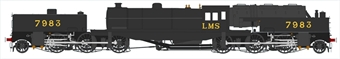 H2-BG-002 Beyer Garratt 2-6-0 0-6-2 7983 in LMS black