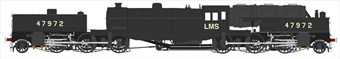 H2-BG-004 Beyer Garratt 2-6-0 0-6-2 47972 in BR black with LMS lettering and block-style numbers