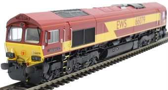 """H4-66-002-D Class 66 66079 in EWS livery """"James Nightall G.C."""" - Digital Fitted"""