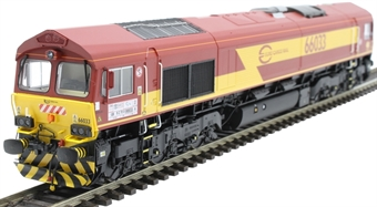 H4-66-008-S Class 66 66033 in Euro Cargo Rail livery with EWS branding - Sound Fitted