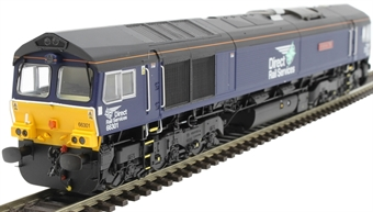 """H4-66-012 Class 66 66301 in DRS plain livery """"Kingmoor TMD"""""""