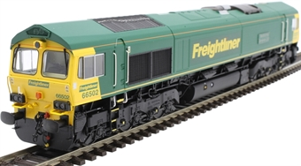 """H4-66-014-D Class 66 66502 in Freightliner livery """"Basford Hall Centenary 2001"""" - Digital Fitted"""