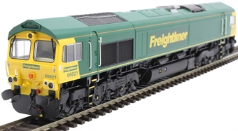 H4-66-017-S Class 66 66621 in Freightliner livery - Sound Fitted