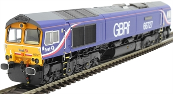 "H4-66-024 Class 66 66727 in GBRf/First group livery ""Andrew Scott CBE"""