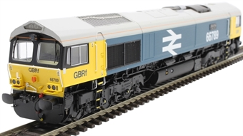 """H4-66-031-S Class 66 66789 in BR Large Logo blue with GBRf branding """"British Rail 1948 - 1997"""" - Sound Fitted"""