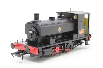 "H4-AB14-001-PO Andrew Barclay 0-4-0ST 14"" 2047 '705' in BR black with early crest - Open box, Chipped paint on buffer beam"