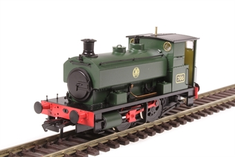 """H4-AB14-002 Andrew Barclay 0-4-0ST 14"""" 2047 '705' in GWR green with shirtbutton roundel £99"""