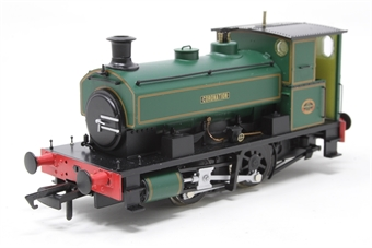 """H4-AB14-003-PO01 Andrew Barclay 0-4-0ST 14"""" 2134 """"Coronation"""" in lined green - Open box, imperfect box"""
