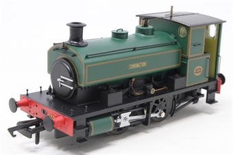 "H4-AB14-003-PO Andrew Barclay 0-4-0ST 14"" 2134 ""Coronation"" in lined green - Open box, chipped paint on buffer beam"