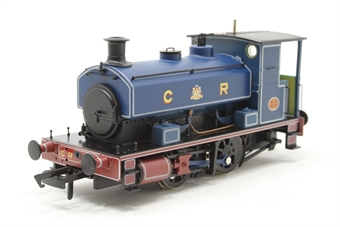 "H4-AB14-004-PO02 Andrew Barclay 0-4-0ST 14"" 1863 in Caledonian Railway lined blue - Open box, chipped paint on buffers and buffer beams"