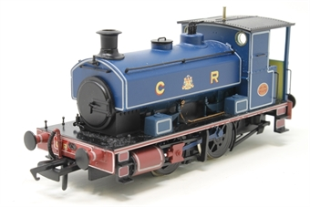 "H4-AB14-004-PO04 Andrew Barclay 0-4-0ST 14"" 1863 in Caledonian Railway lined blue - Open box, chipped paint on running board, imperfect box"