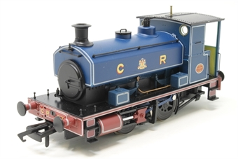 """H4-AB14-004-PO05 Andrew Barclay 0-4-0ST 14"""" 1863 in Caledonian Railway lined blue - Open box, Slow runner"""