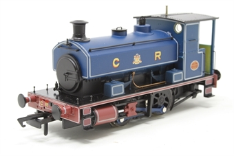 "H4-AB14-004-PO06 Andrew Barclay 0-4-0ST 14"" 1863 in Caledonian Railway lined blue - Open box, imperfect box"