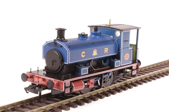 "H4-AB14-004 Andrew Barclay 0-4-0ST 14"" 1863 in Caledonian Railway lined blue"