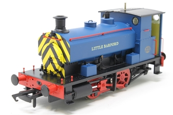 """H4-AB14-006-PO01 Andrew Barclay 0-4-0ST 14"""" 2069 """"Little Barford"""" in Acton Lane Power Station blue with wasp stripes - Open box"""
