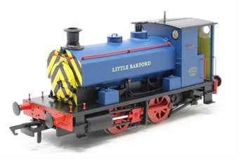 """H4-AB14-006-PO Andrew Barclay 0-4-0ST 14"""" 2069 """"Little Barford"""" in Acton Lane Power Station blue with wasp stripes - Pre-owned - DCC fitted £111"""