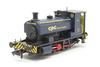 "H4-AB16-004-PO01 Andrew Barclay 0-4-0ST 16"" 1964 in CPC UK blue - Open box, minor mark on boiler"