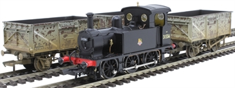 H4-B-P-001 P Class bundle with SECR P Class 0-6-0T 31556 in BR black and three 16 ton steel mineral wagons