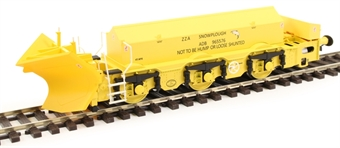 H4-BH-001 Beilhack snow plough (ex Class 40) ZZA ADB965576 in BR yellow