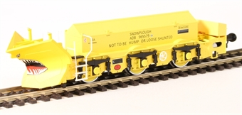 "H4-BH-004 Beilhack snow plough (ex Class 40) ZZA ADB965579 in BR yellow ""Stratford Shark"""