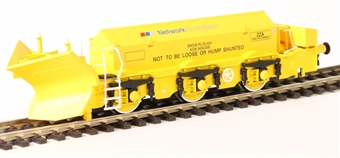 H4-BH-005 Beilhack snow plough (ex Class 45) ZZA ADB966098 in BR yellow with NSE Branding