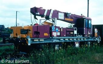 H4-GPC-006 YOB Plasser 12t GPC crane DRP81514 in Jarvis/FastLine maroon (2004-2014)